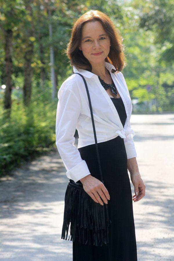 CASUAL STYLING OF A BLACK MAXI DRESS | Maxikleid schwarz ...