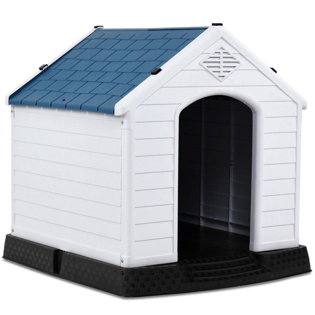 Indoor Outdoor Waterproof Plastic Dog House Pet Puppy Shelter In 2020 Plastic Dog House Outdoor Dog House Cool Dog Houses
