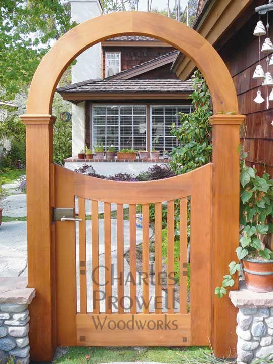 A Garden Gate And Arch That Is Also Art Wooden Garden 400 x 300