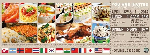 Sakura International Buffet Restaurant 50 Off For All Re Opening Promotion Safra Tampines Buffet Restaurant Buffet Restaurant