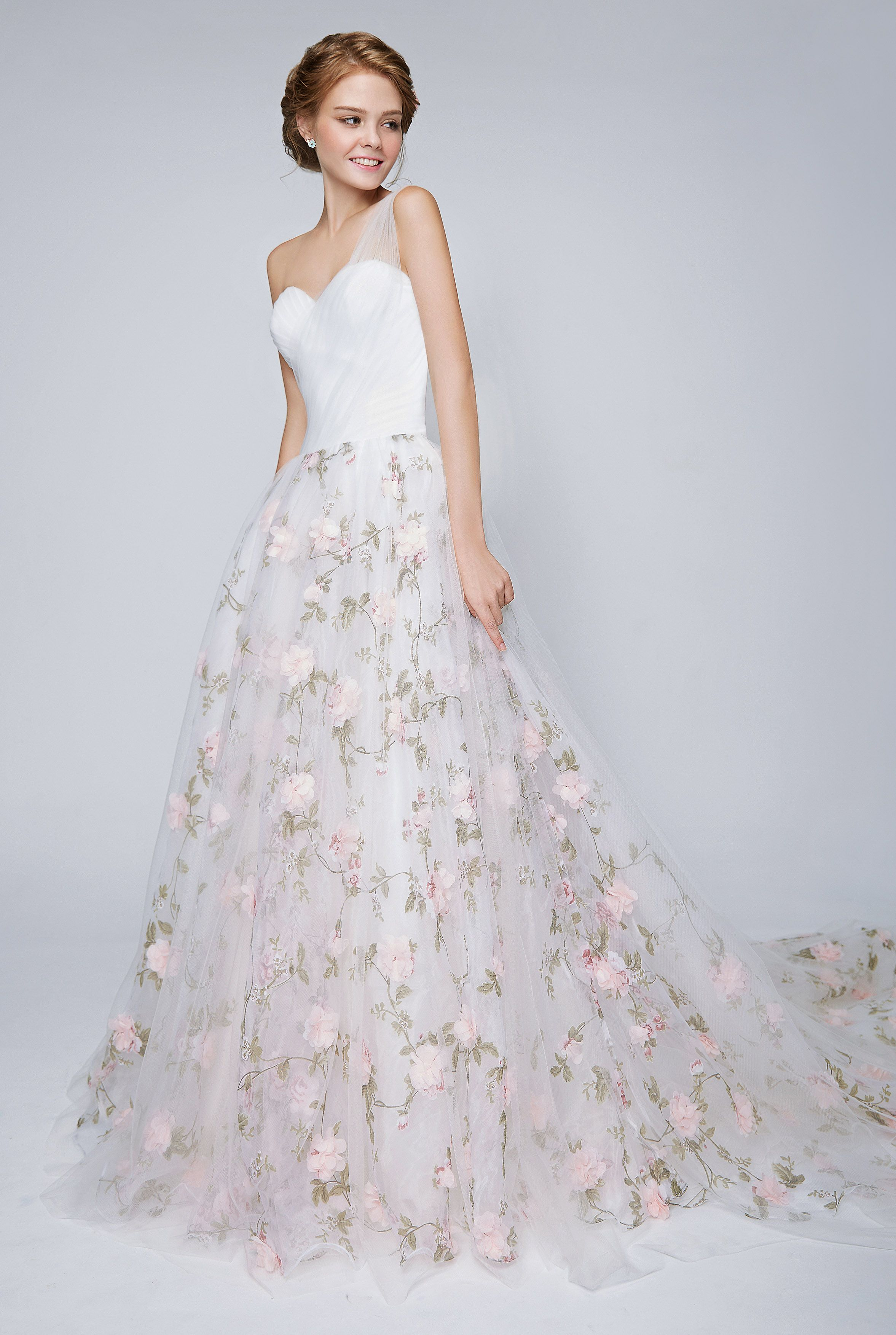 Blooming romantic pretty in floral floral wedding dresses bridal pretty in floral floral wedding dresses bridal boutique singapore wedding gown junglespirit Images