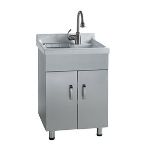 Home Hardware Stainless Steel Laundry Cabinet With China Sink