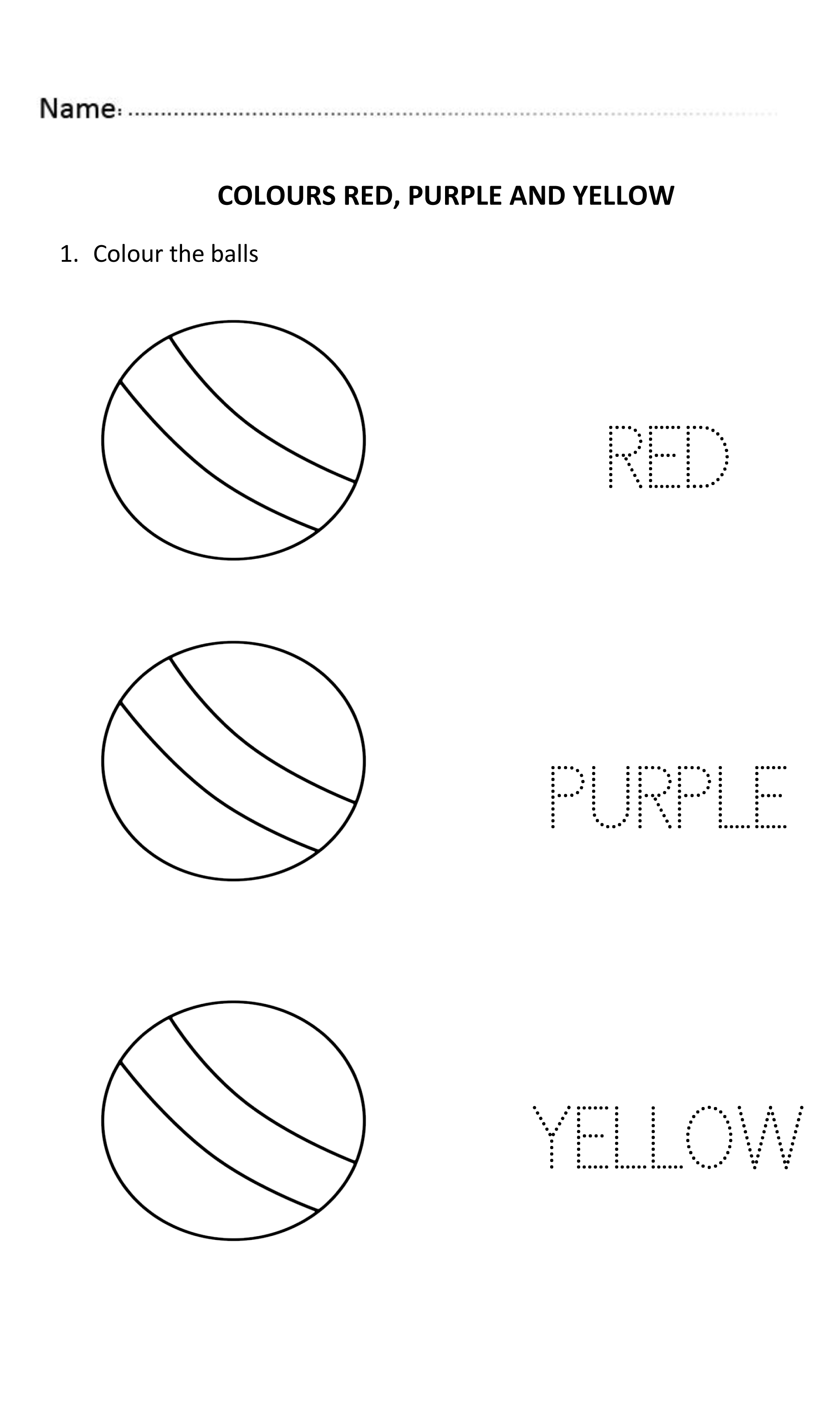 Easy And Fun Worksheet To Learn The Colours For Nursery