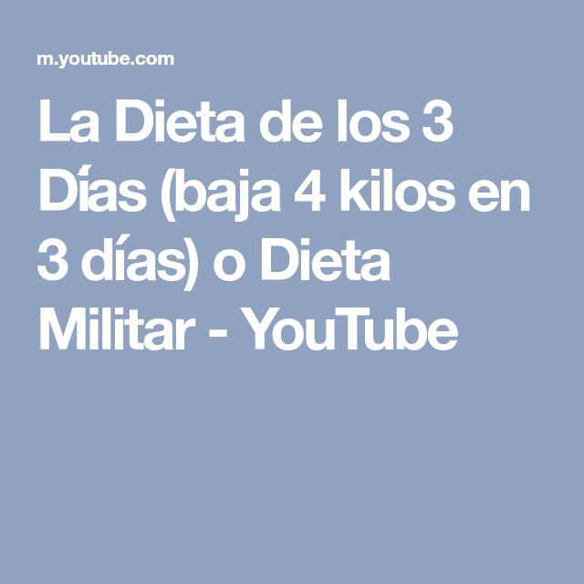 La Dieta de los 3 Días (baja 4 kilos en 3 días) o Dieta Militar - YouTube