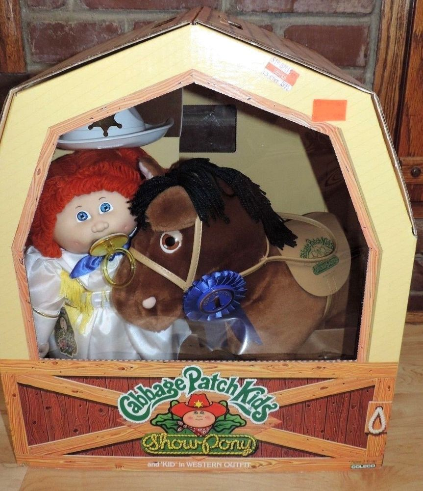 Vintage Coleco 1984 Cabbage Patch Kids Show Pony Cow Girl Western Outfit Nib Cabbage Patch Kids Cabbage Patch Kids Dolls Cabbage Patch Dolls