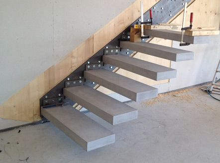 cantilever detail of fair faced concrete stair fixsystem by roomstone details joinery. Black Bedroom Furniture Sets. Home Design Ideas