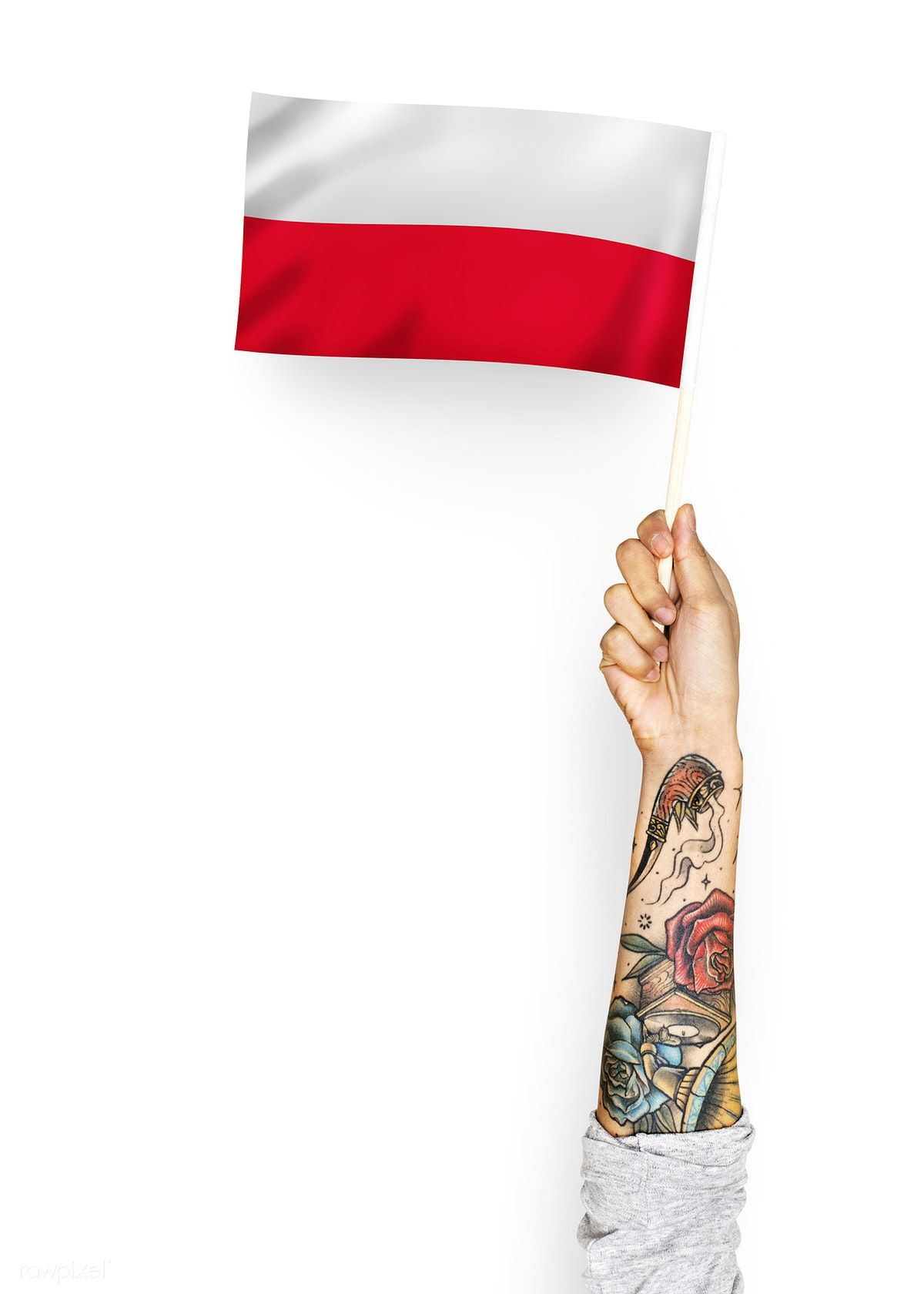 Person Waving The Flag Of Republic Of Poland Free Image By Rawpixel Com Flags Of The World Flag Free Images