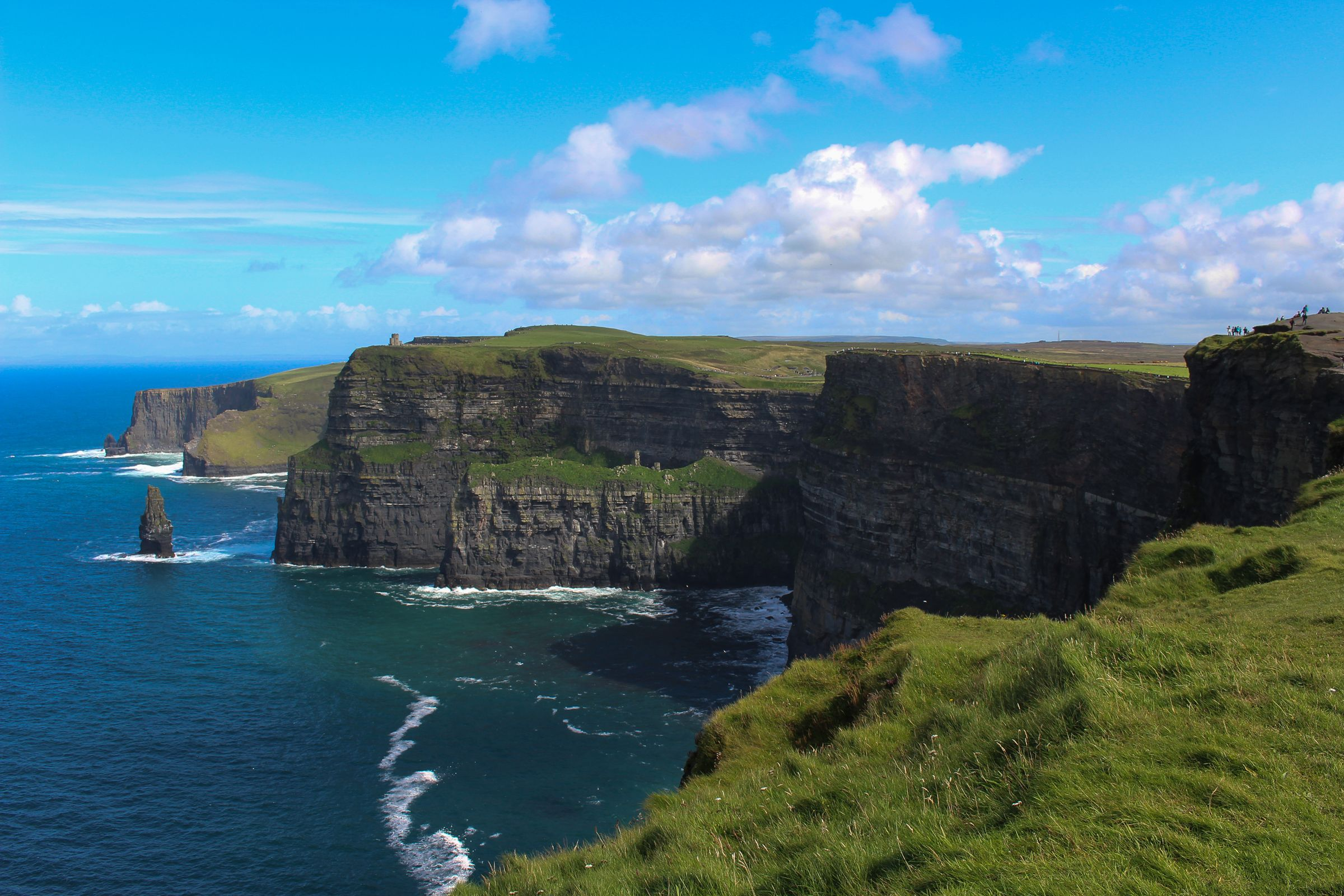 Cliffs of Moher Ireland. Lived here for 3 years went for the first time when family visited this summer [OC] [2400x1600]