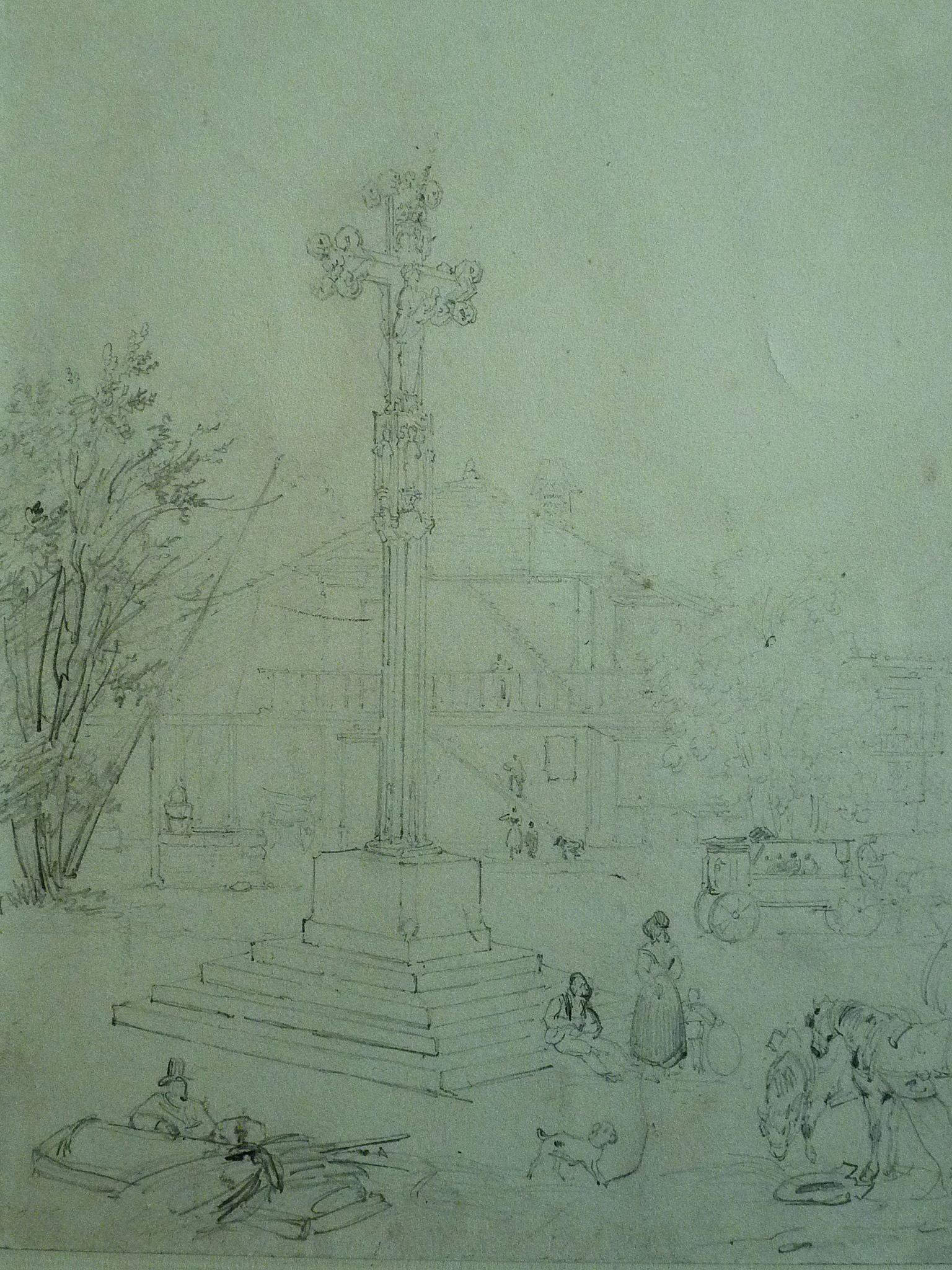 BONINGTON Richard Parkes Ecole Place d une petite Ville de