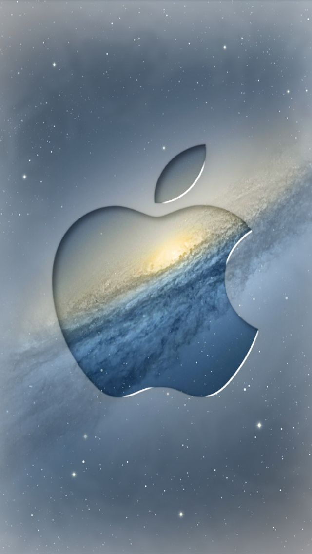 Apple logo desktop (15) iPhone 5 Wallpapers Blue