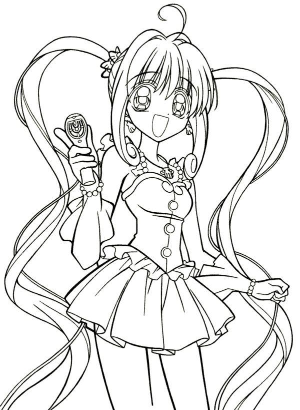 Coloriage Manga à Colorier Dessin à Imprimer Coloring