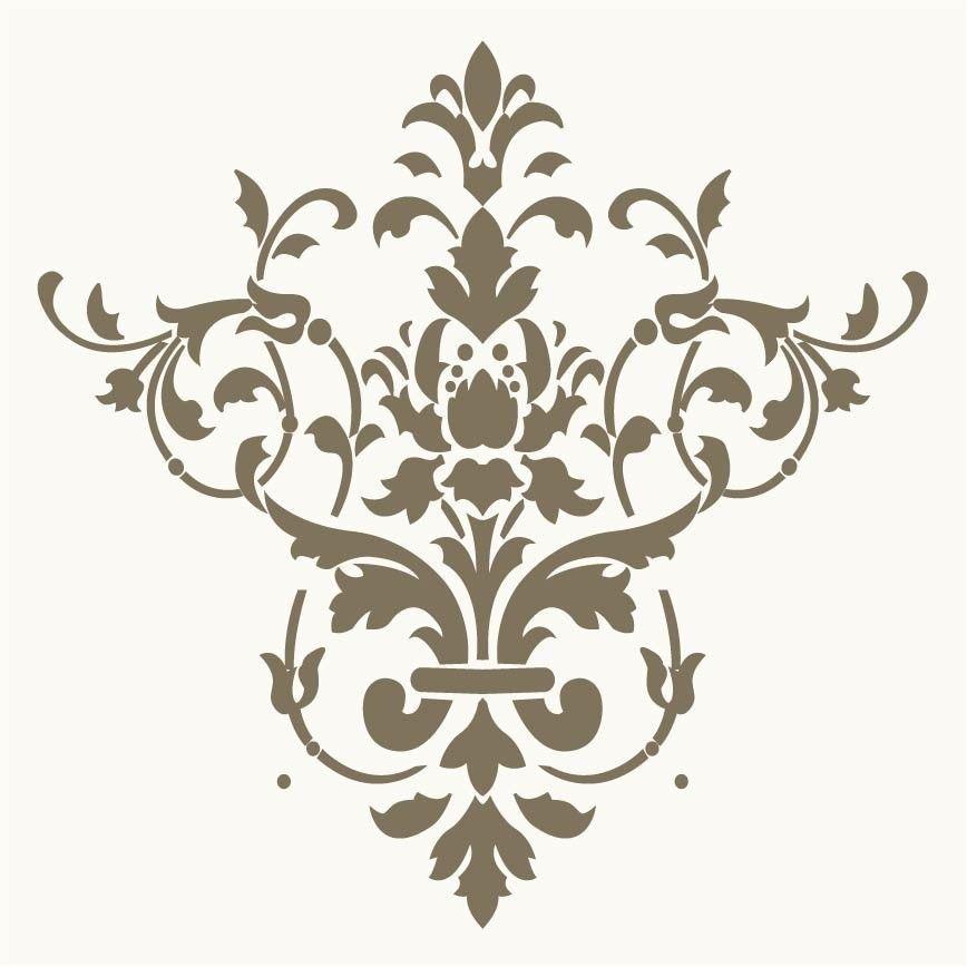 stencil design ideas Wallpaper stencils are easy and fun