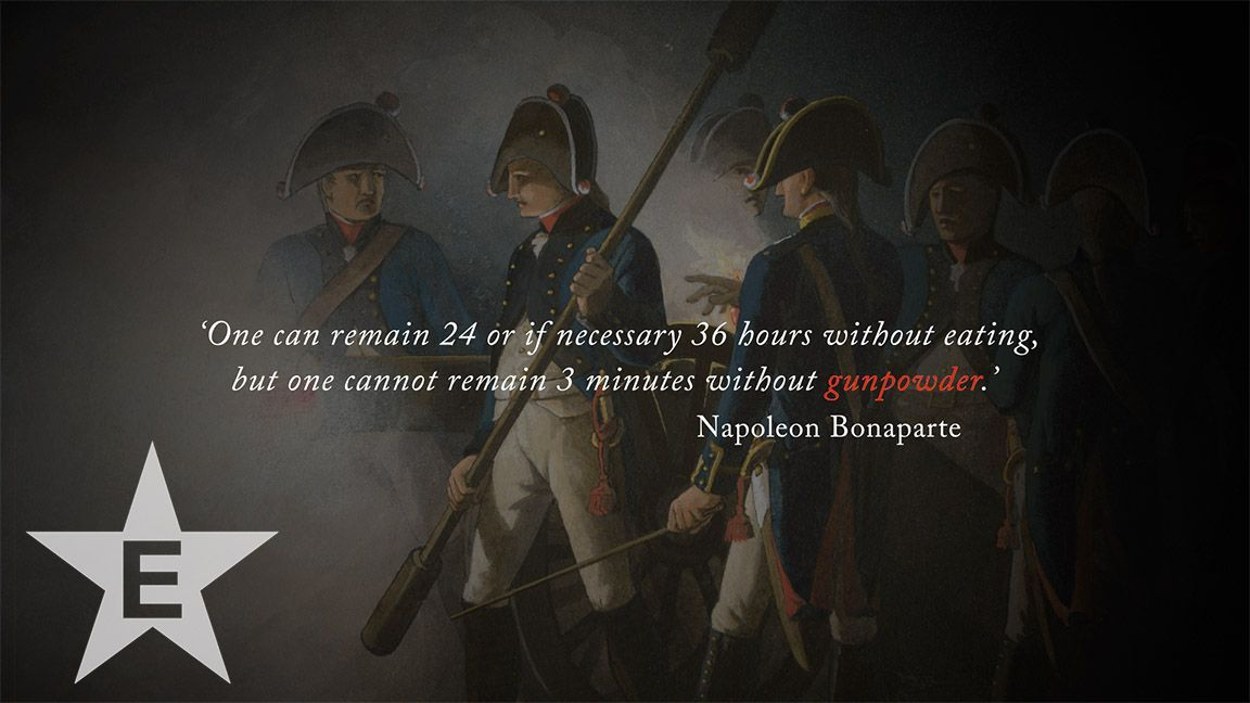 Image result for napoleon three days without gunpowder