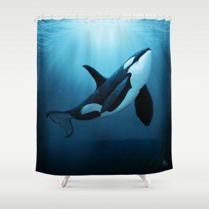 Orca Whale Shower Curtain