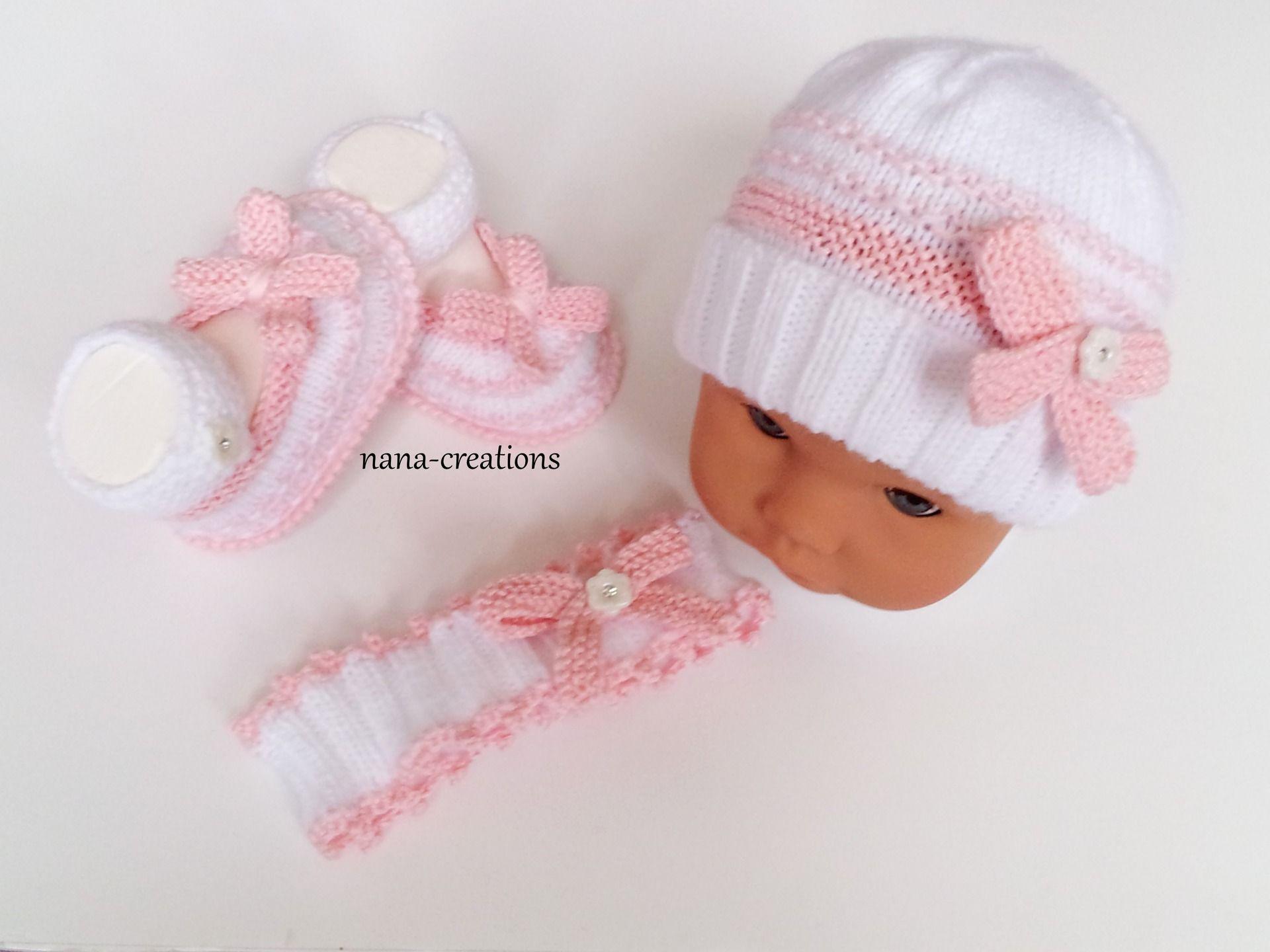 e8db5f7d1766 Bonnet naissance laine ou coton tuto tricot brassiere naissance ...