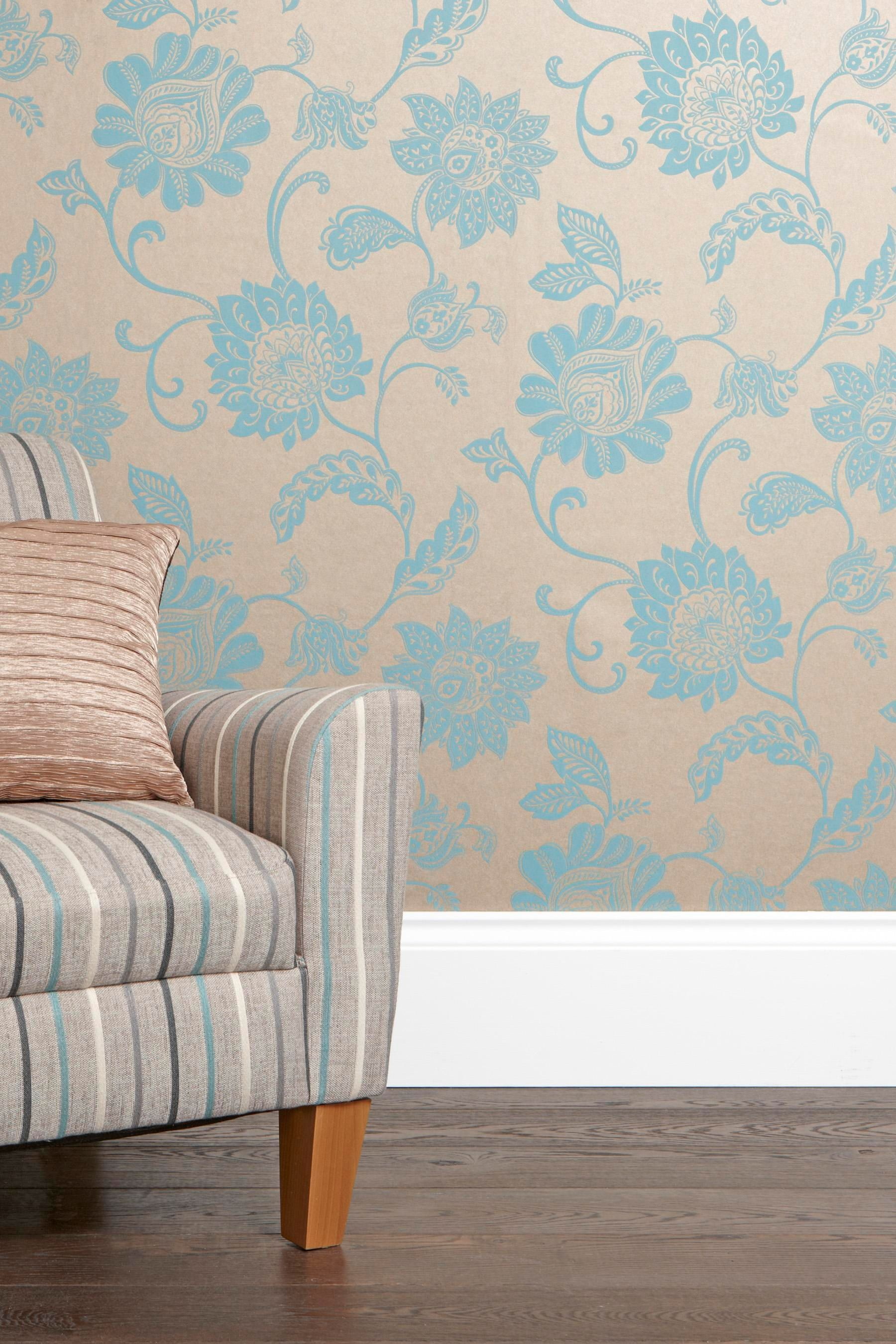 Buy Lombardy Teal Wallpaper from the Next UK online shop