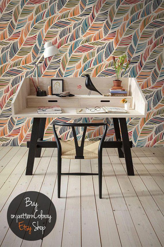 Abnehmbare VIntage Muster Tapete, Schälen Und Stick Wand Wandbild,  Wandtattoo, Selbstklebende Wandverkleidung #50