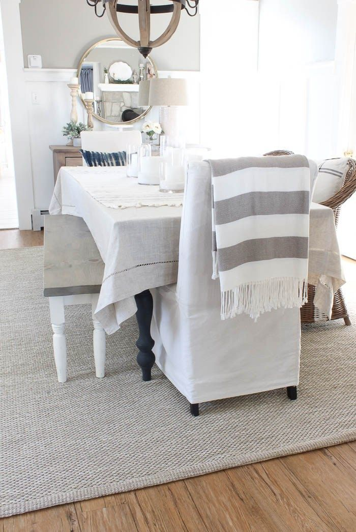 Neutral Dining Room Rug