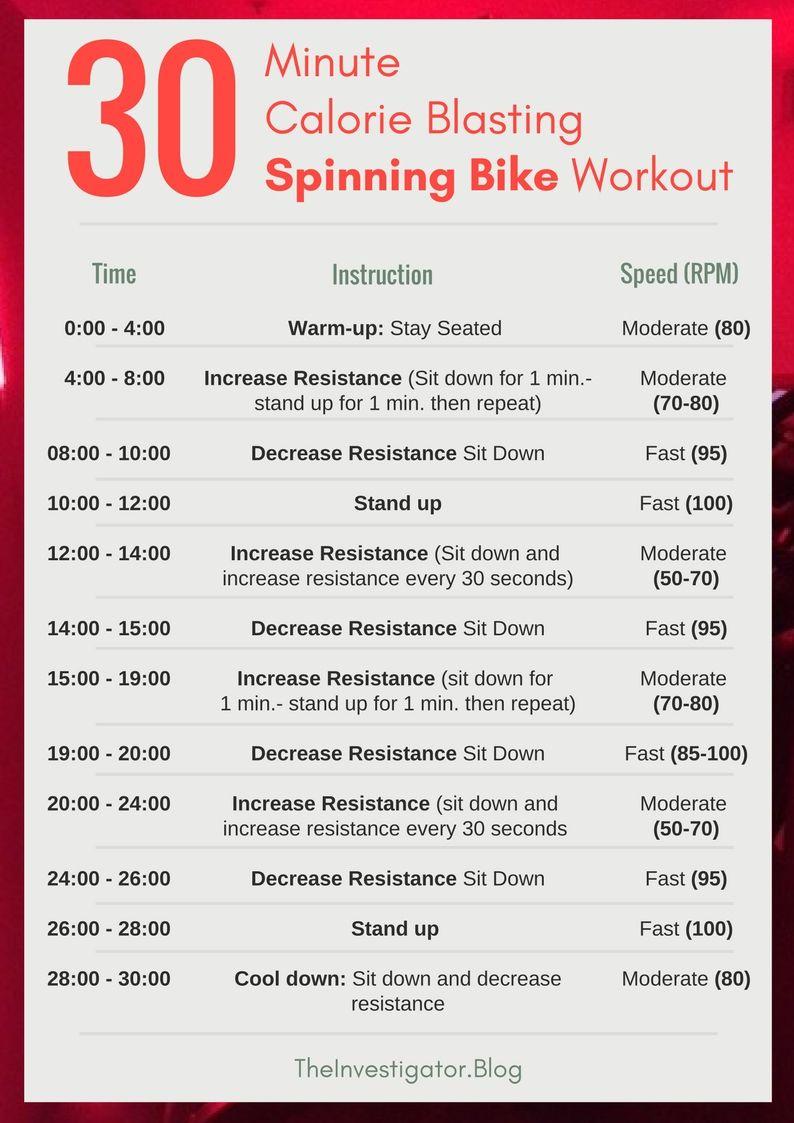 30 Minute Calorie Blasting Spinning Bike Workout Biking Workout