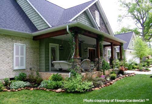 landscaping with rocks around your porch for the home pinterest
