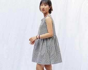 8d666e2aa917 Gingham smock dress