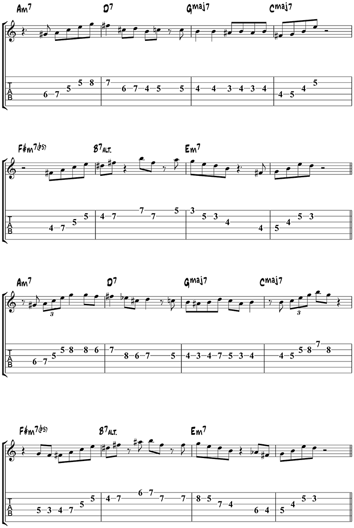 Autumn Leaves Arpeggios 1 Music Sheets Pinterest Guitars And