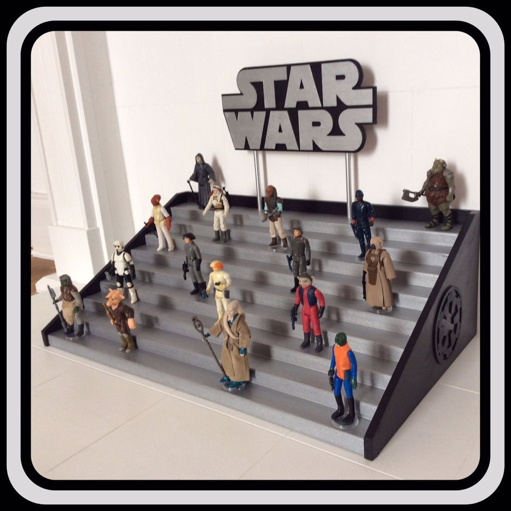Vintage Star Wars Figures Collection Display Stand Vintage Star Wars Figures Star Wars Figures Vintage Star Wars