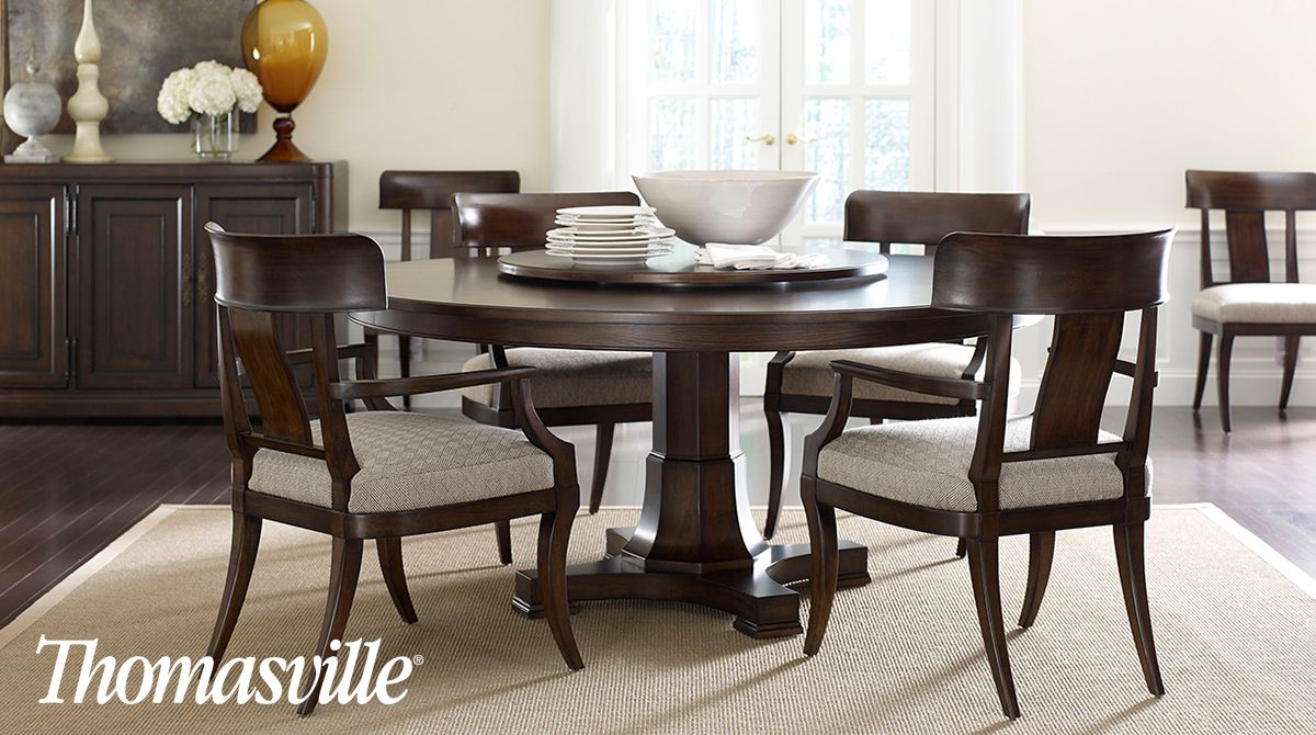 Gather 'round The Table With Friends And Loved Ones In This Adorable Thomasville Dining Room Table Design Inspiration
