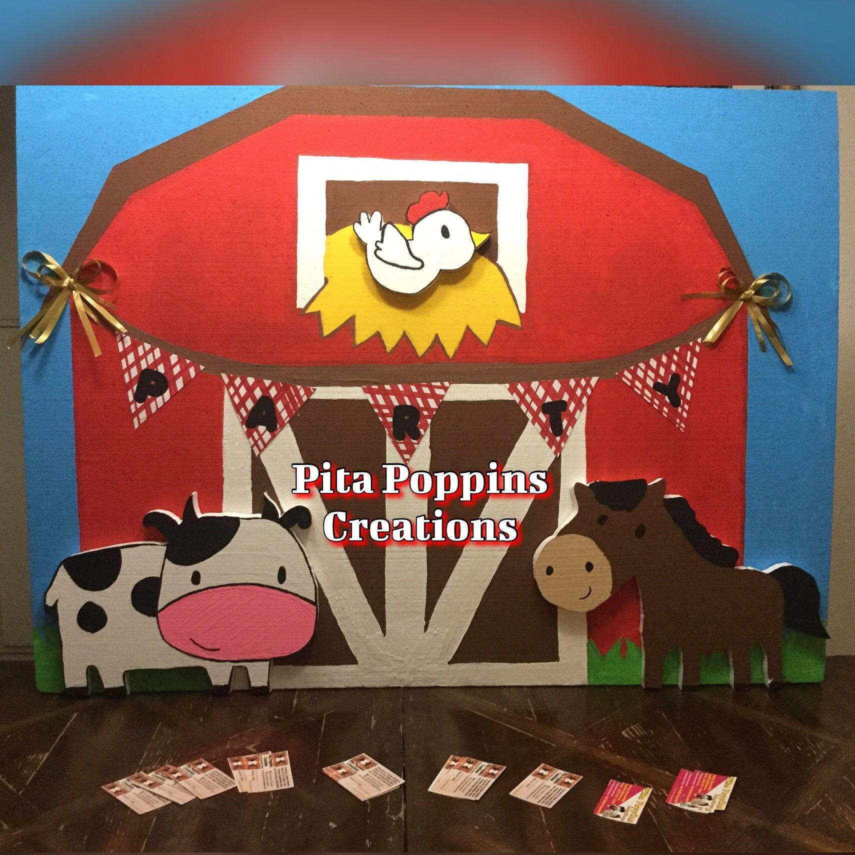 Barn house background prop farm animals birthday party
