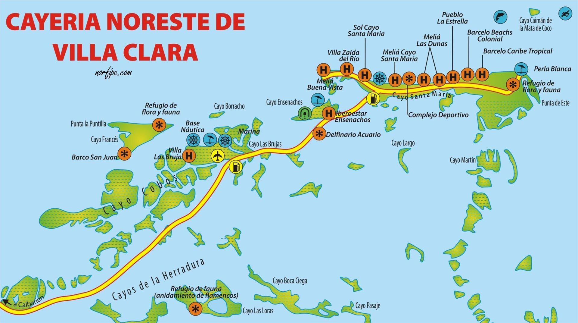 Cayos De Cuba Mapa.Mapas De Sitios Turisticos De Cuba Para El Celular En 2019