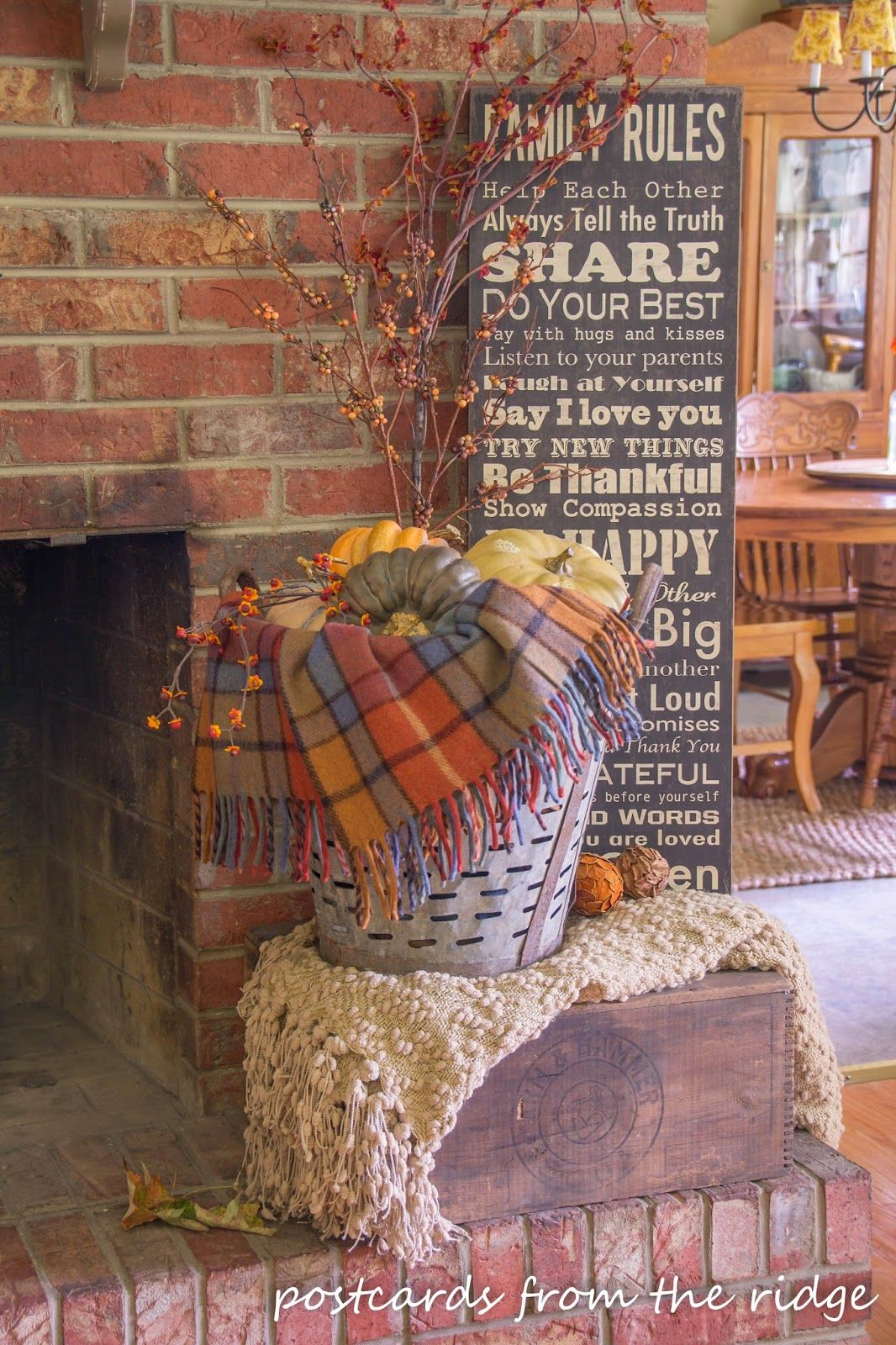 Vintage Themed Fall Decor And Fall Home Tour Fall Mantel