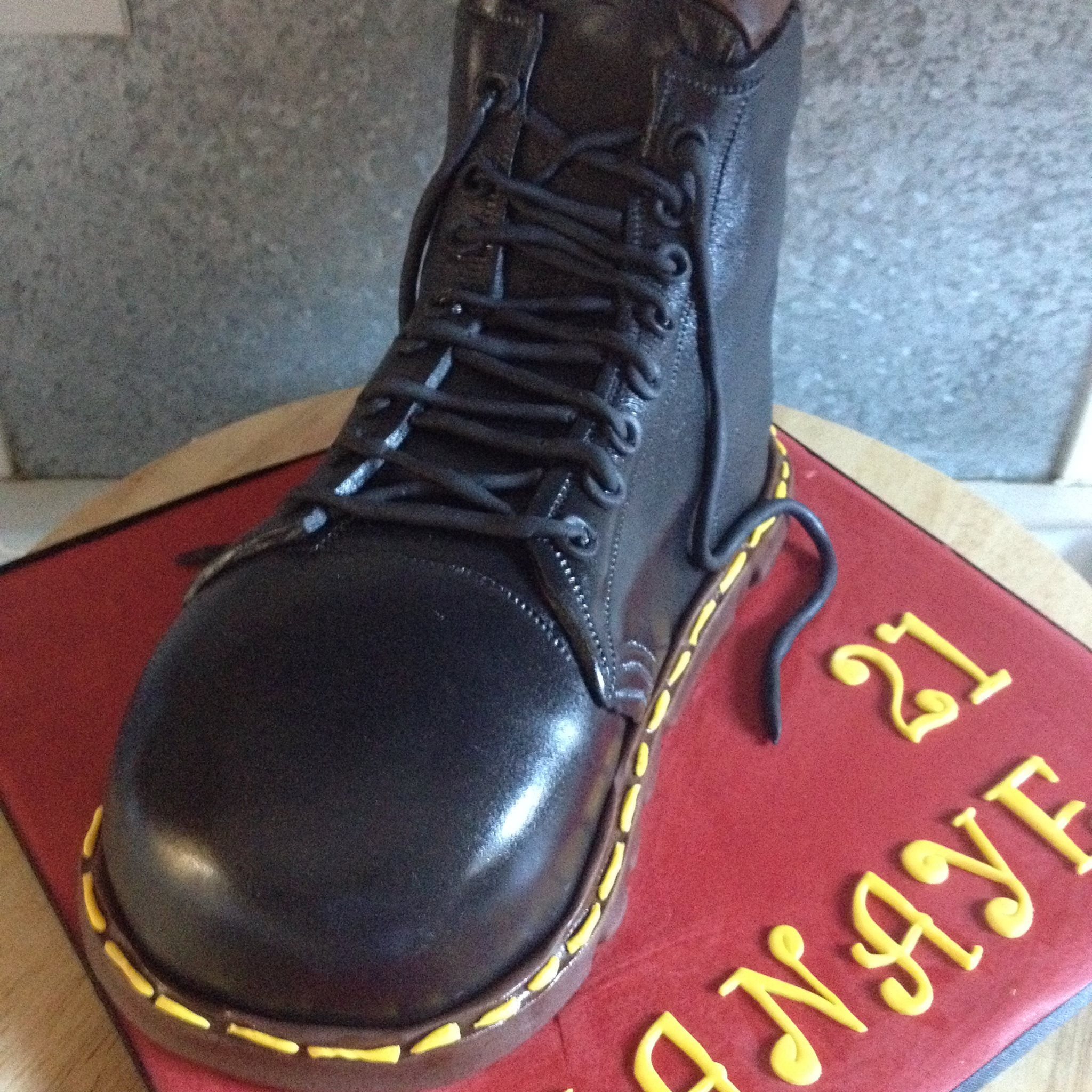 Doc Martin boot cake | Doc martins boots, Boots, Dr martin boots