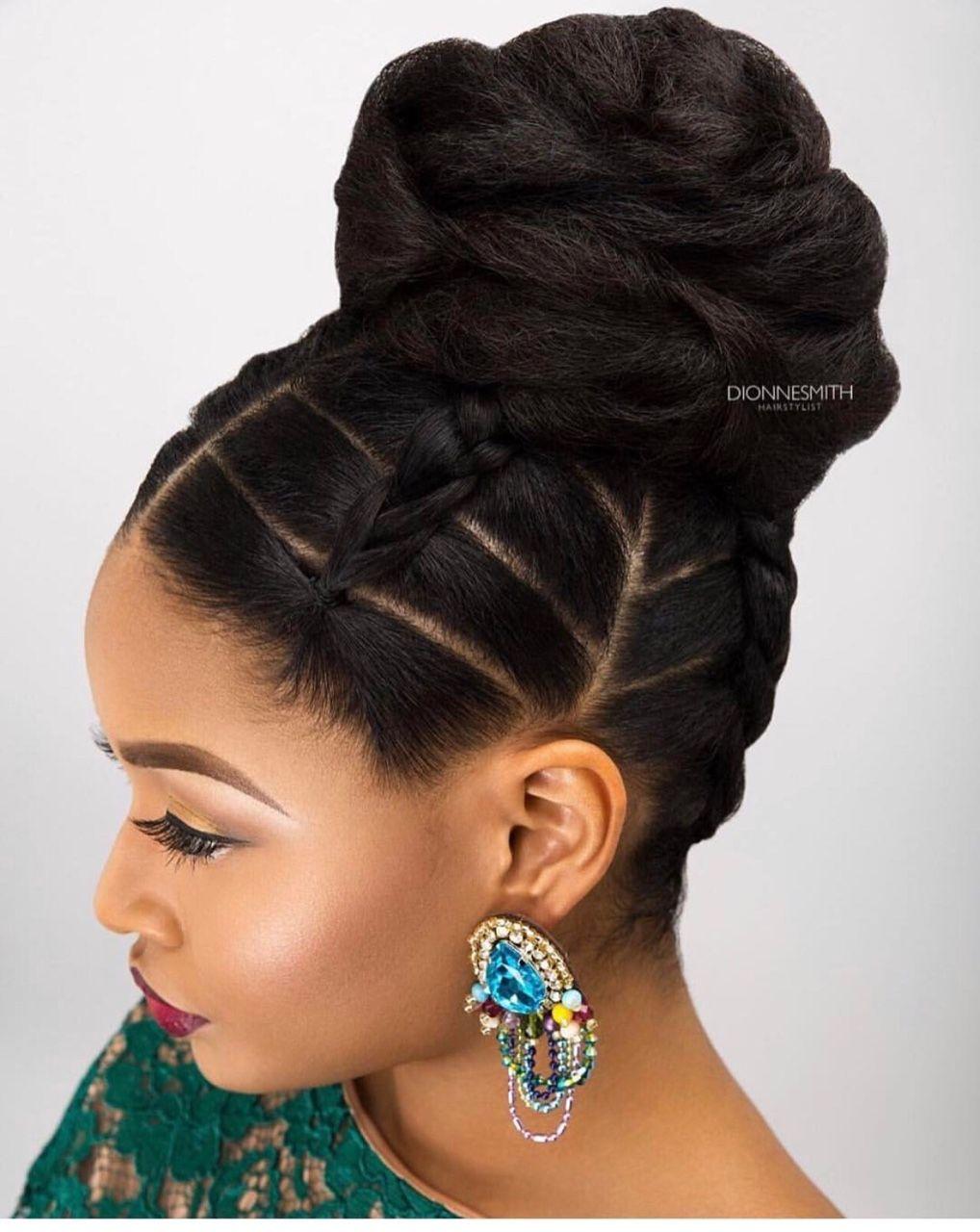Simple But Elegant Follow For More Styles Www Yeahsexyweaves Tumblr Com Natural Hair Bun Styles Natural Hair Updo Natural Hair Styles