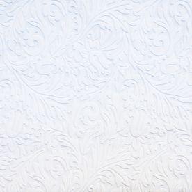 Allen Roth White Strippable Vinyl Unpasted Paintable Wallpaper
