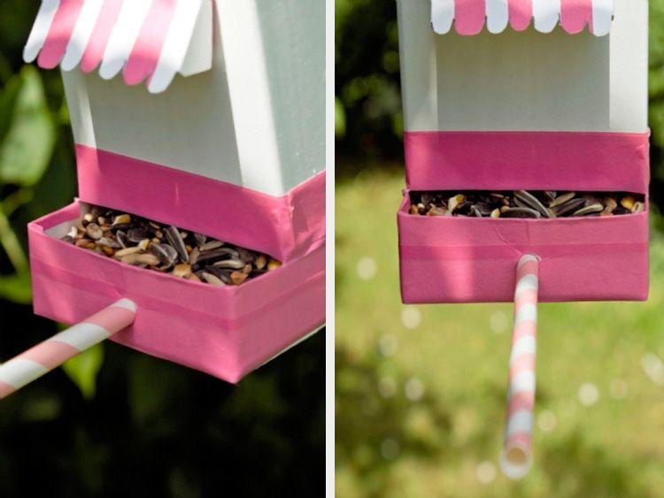 Tutoriel diy fabriquer une mangeoire pour oiseaux avec - Fabriquer mangeoire oiseaux ...