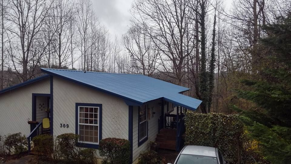 Gallery Blue Tuff Rib Metal Roof Example Shingle Style Architecture Dutch Colonial Homes House Styles