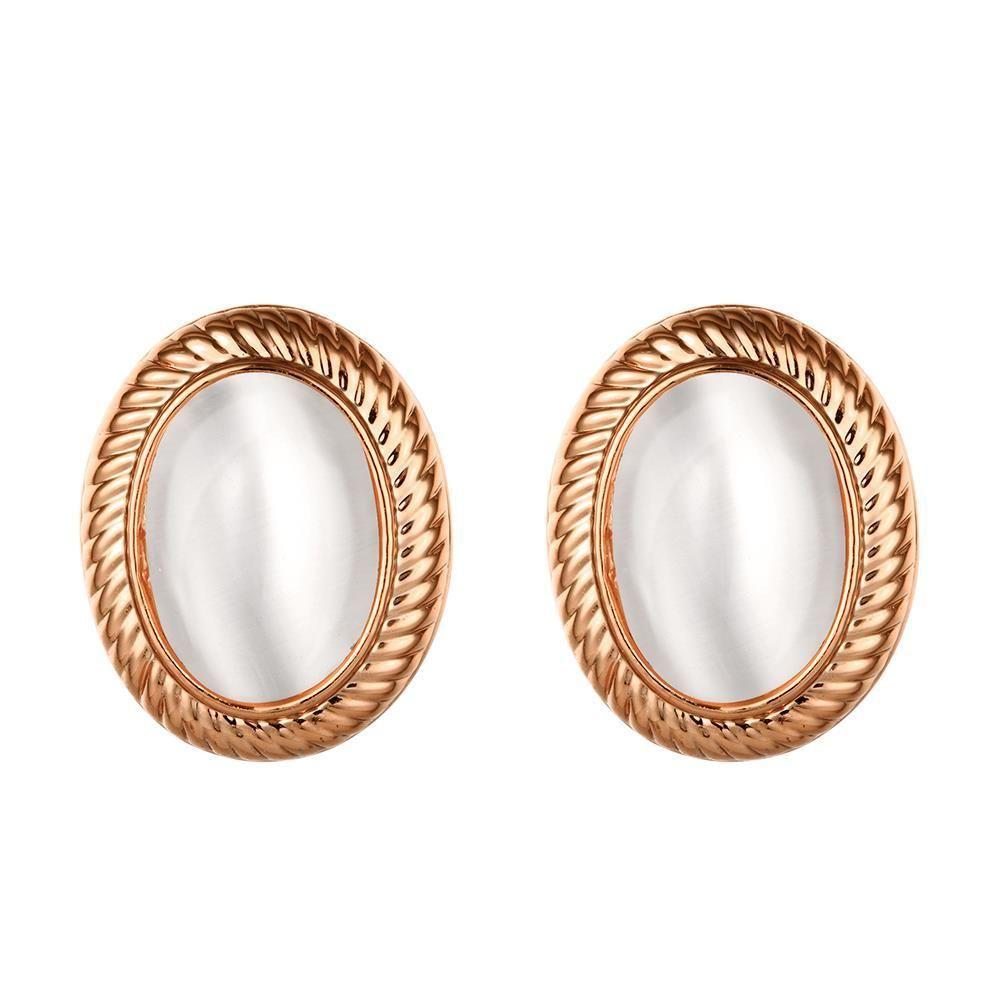 18K Rose Roman Inspired Stud Earrings Made with Swarovksi Elements