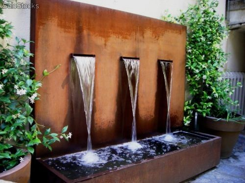 Fuentes de agua exterior modernas buscar con google - Fuentes de exterior ...
