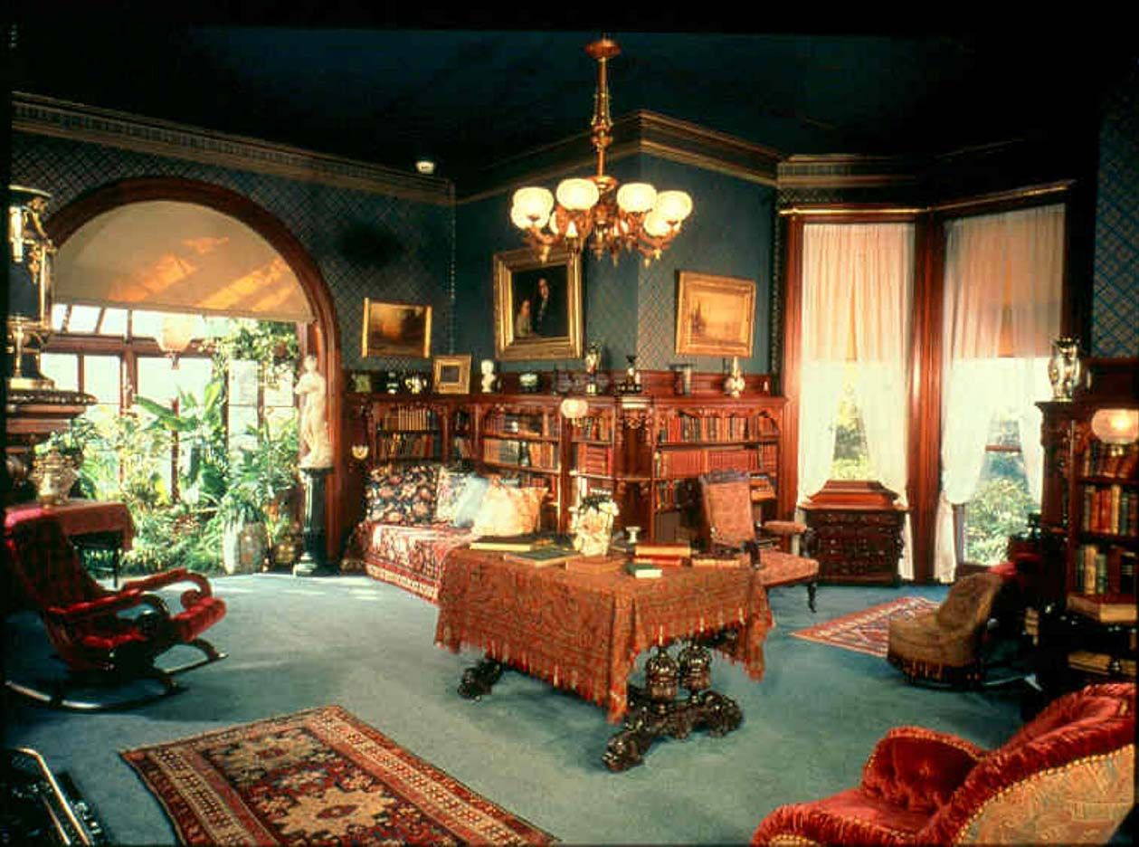 Decorating Ideas For Victorian Homes Part - 39: Architecture-vintage-blue-and-brown-home-interior-design-. Victorian  HomesVictorian Style DecorVictorian ...