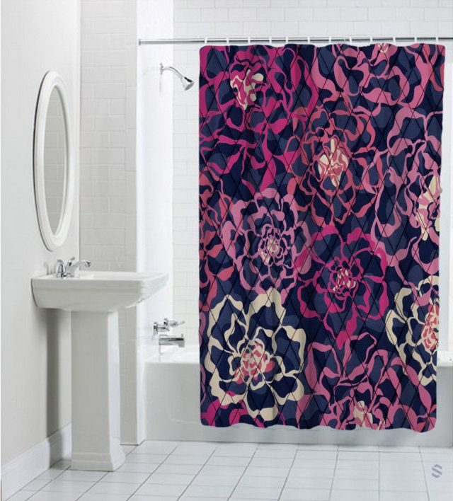 Vera Bradley Katalina Pink Best Design Shower Curtain Cheap And Quality 100 Money Back Guarantee