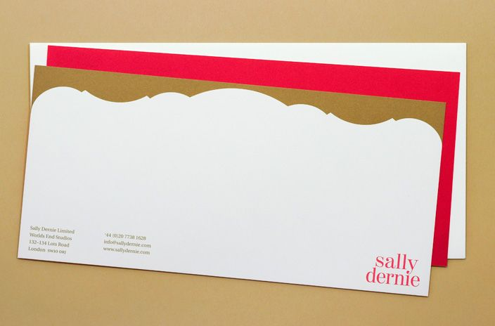 Gold Printed Compliments Slip For Interior Design Practice Bright