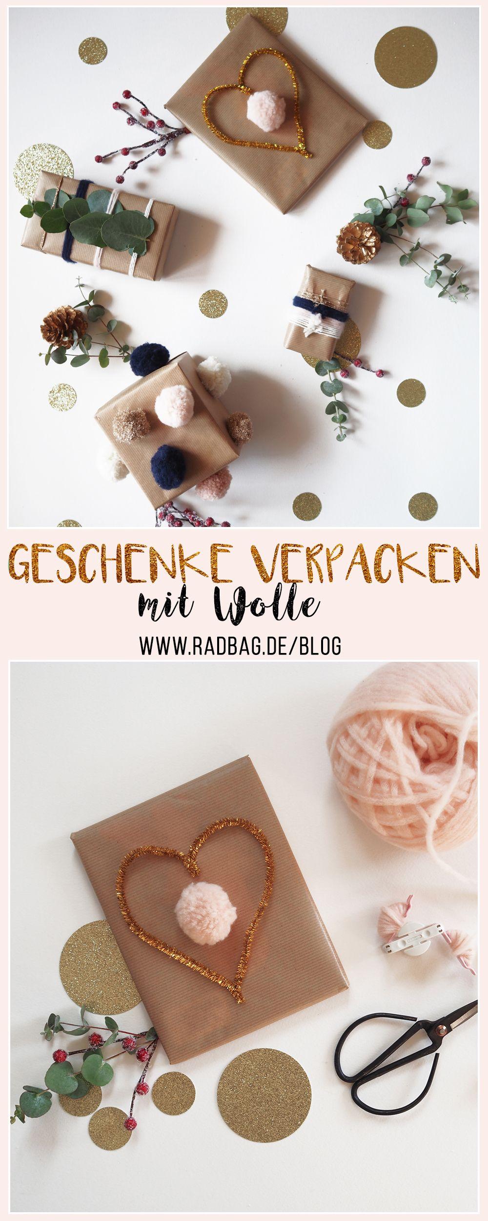Weihnachtsgeschenke Originell.Weihnachtsgeschenke Verpacken Mit Wolle Geschenke Schön Verpacken
