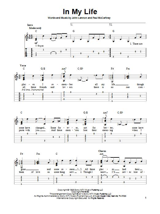 partition guitare beatles