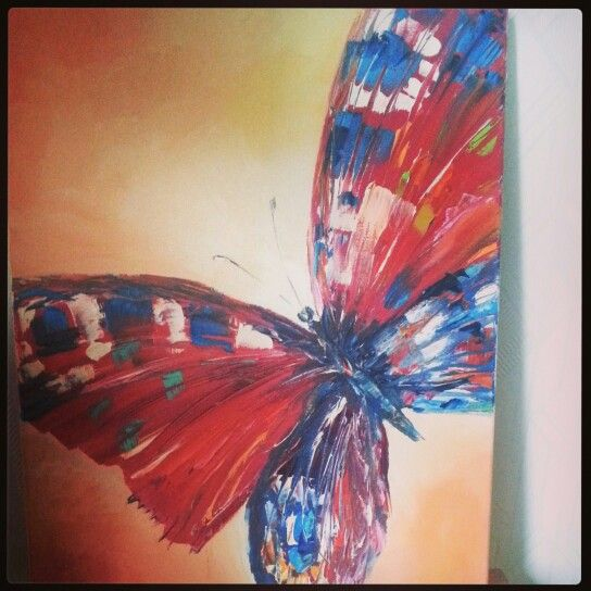 Oil painting butterfly