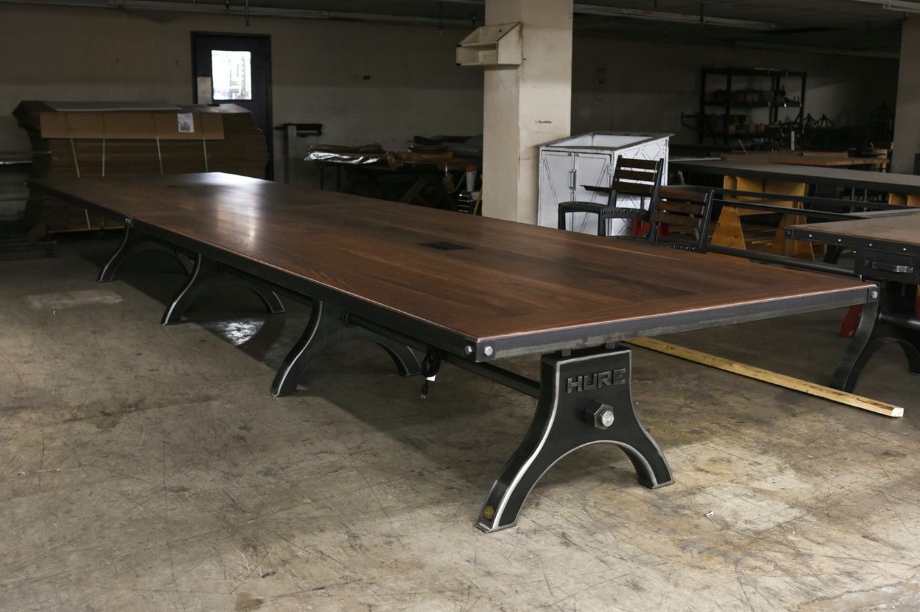Sofa Huren Walnut Hure Conference Table By Vintage Industrial Furniture