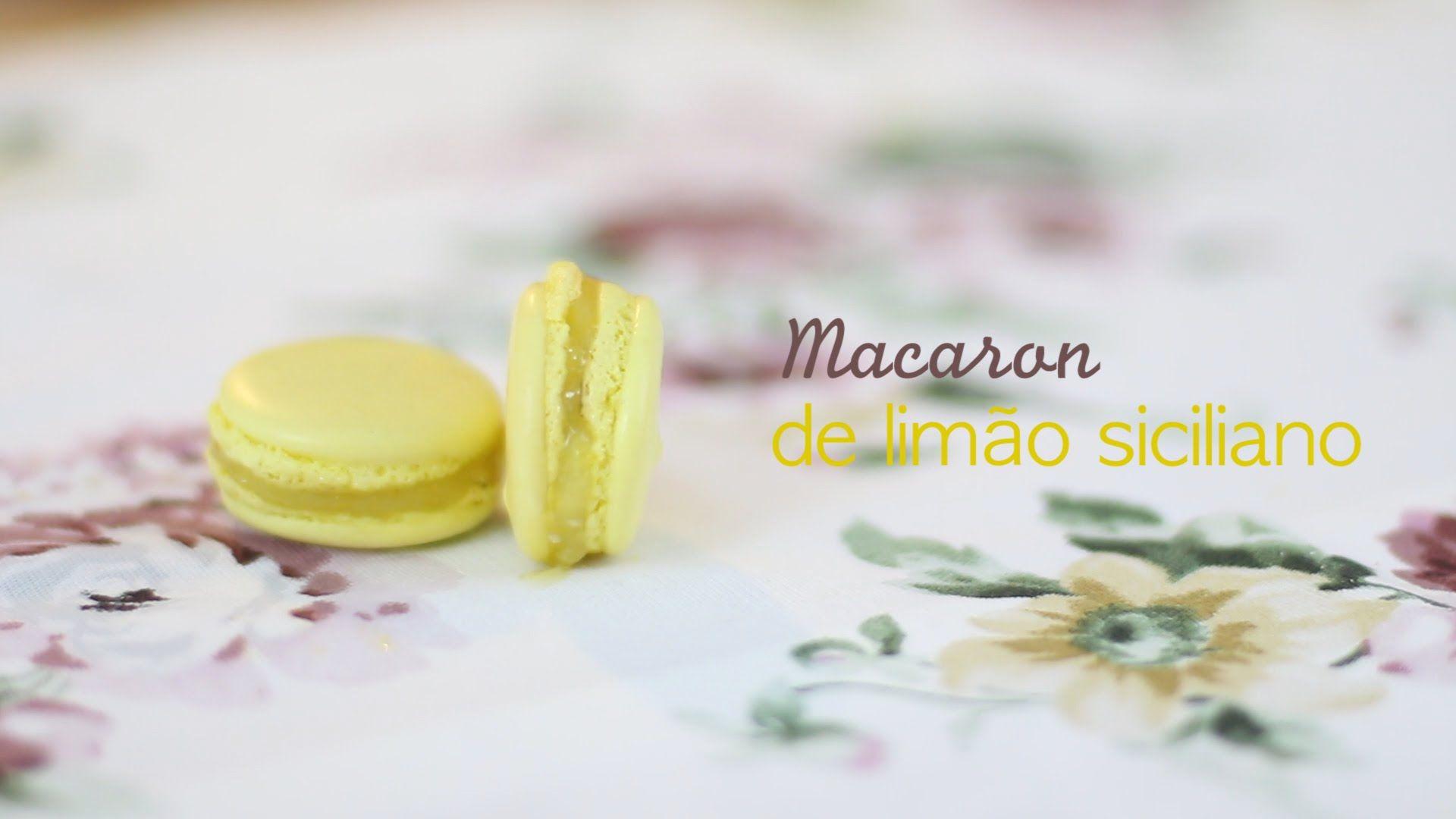 Macaron de Limão Siciliano