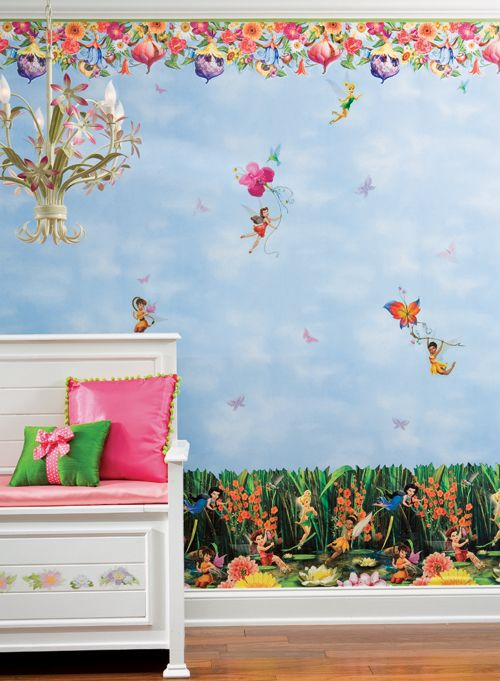 Pixie Hollow Wallpaper & Borders Home wallpaper, Disney