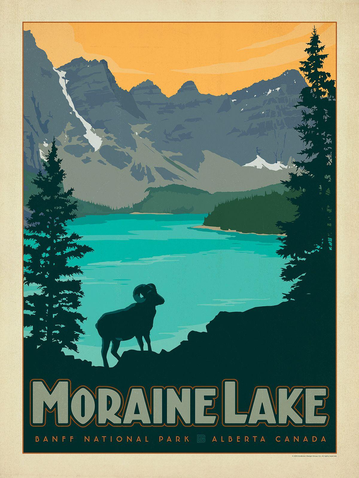 Www Andersondesigngroupstore Com Moraine Lake Canada Vintage