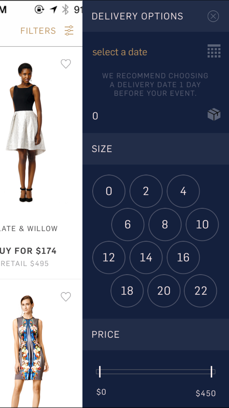 Rent The Runway Screenshots Mobile Patterns With Images