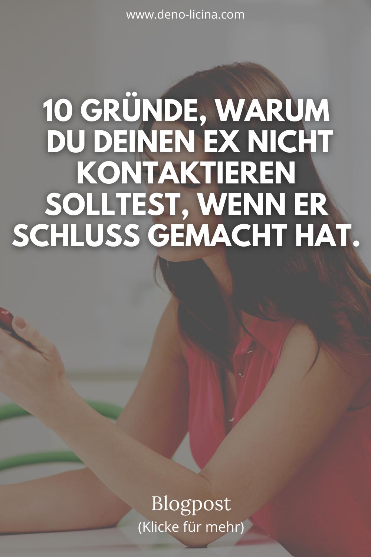 10 Gründe, warum du deinen Ex nicht kontaktieren solltest